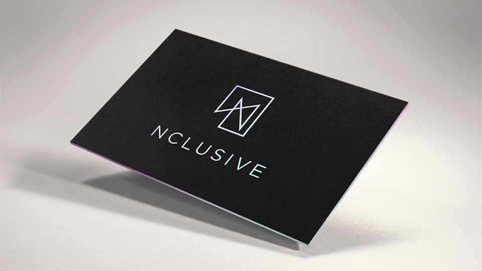 nclusive, branding, business card design