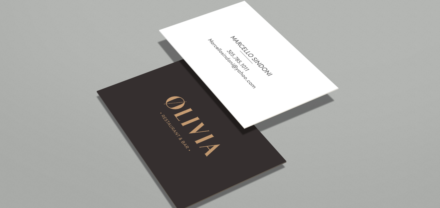 olivia business card