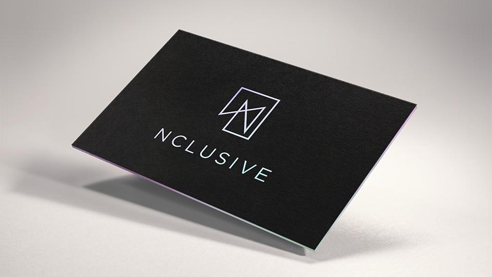 nclusive, branding, business card design