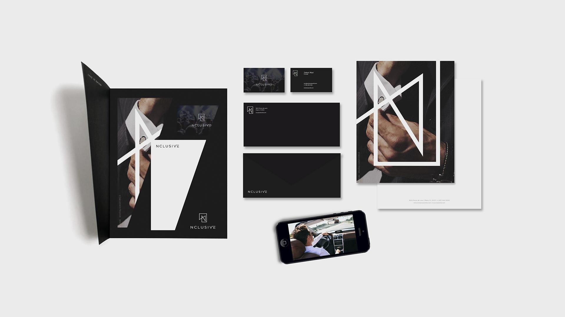 nclusive, branding, stationary design