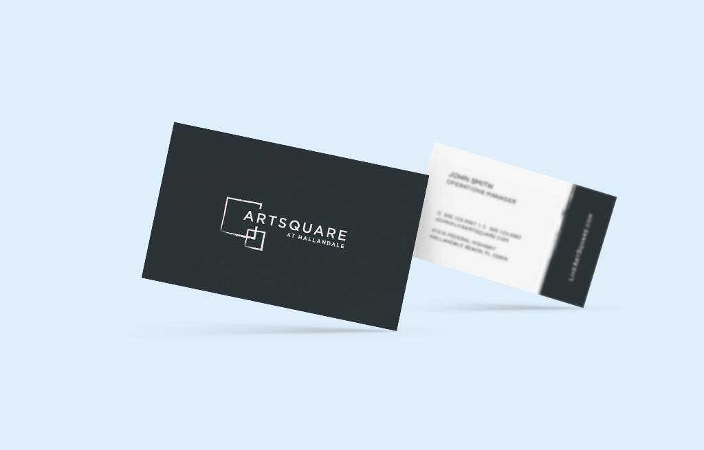 business cards, artsquare, artsquare at hallandale
