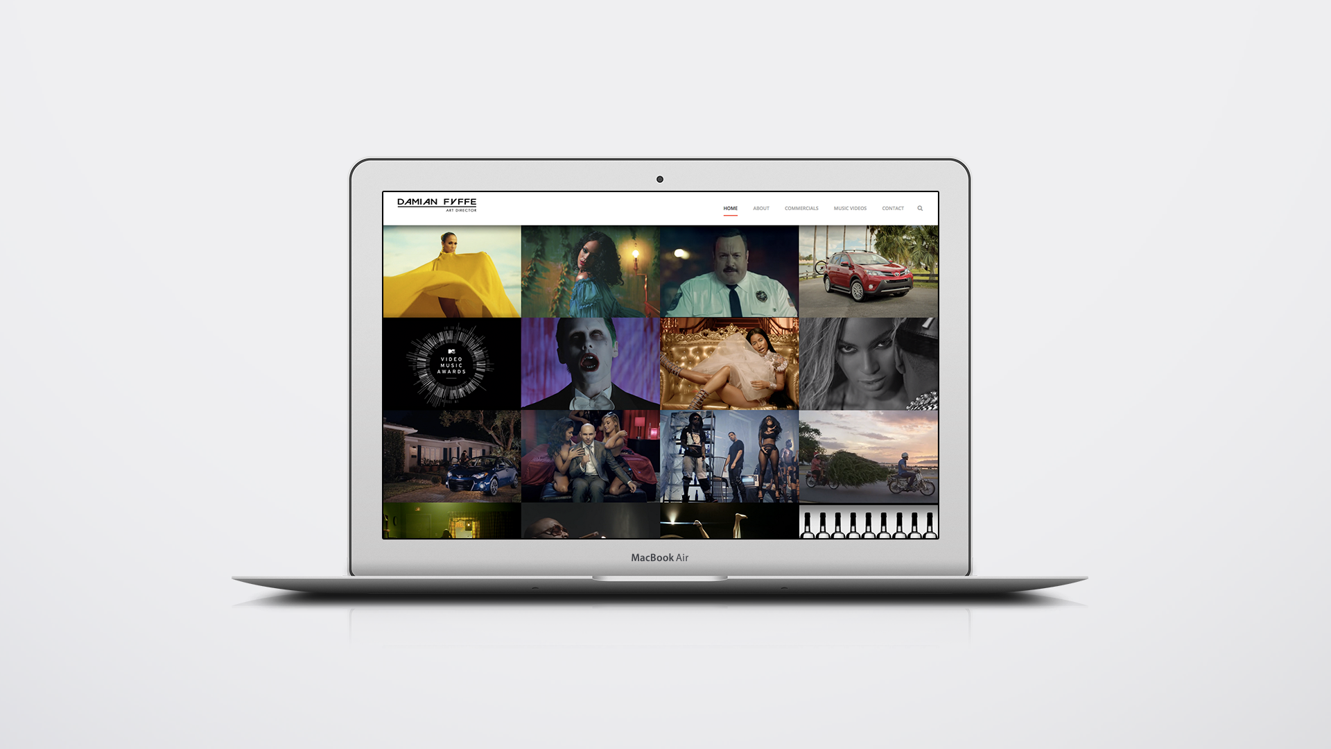 Damian Website Mockup