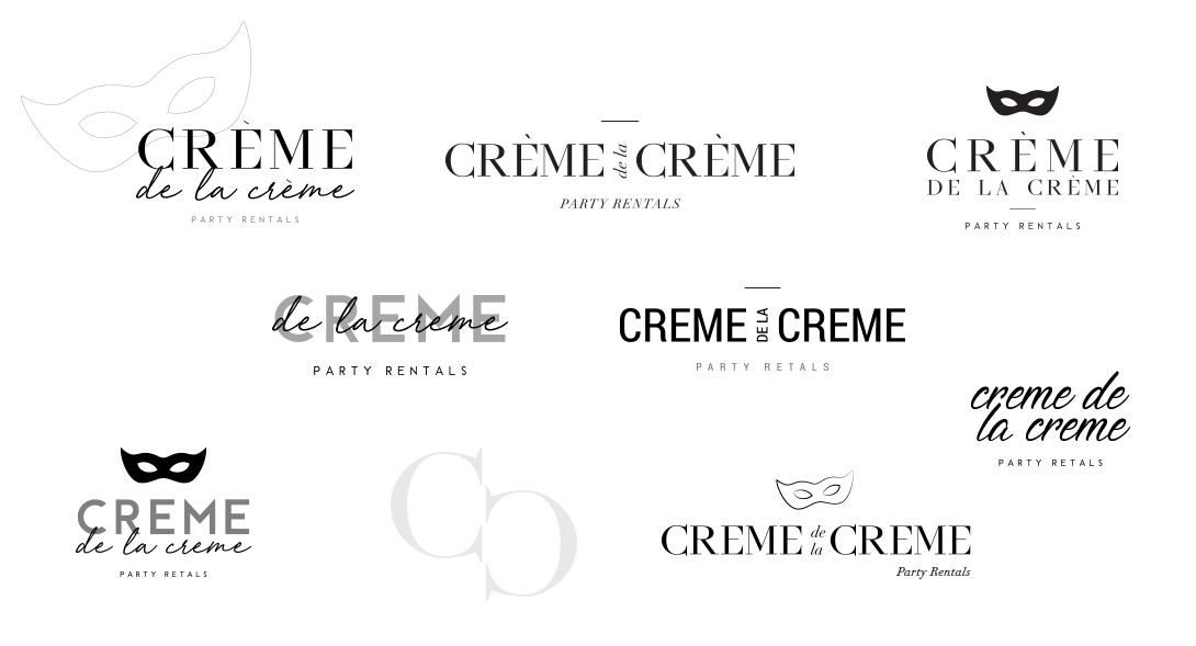 Creme de la creme, events, party rentals, party rentals miami, branding, logo