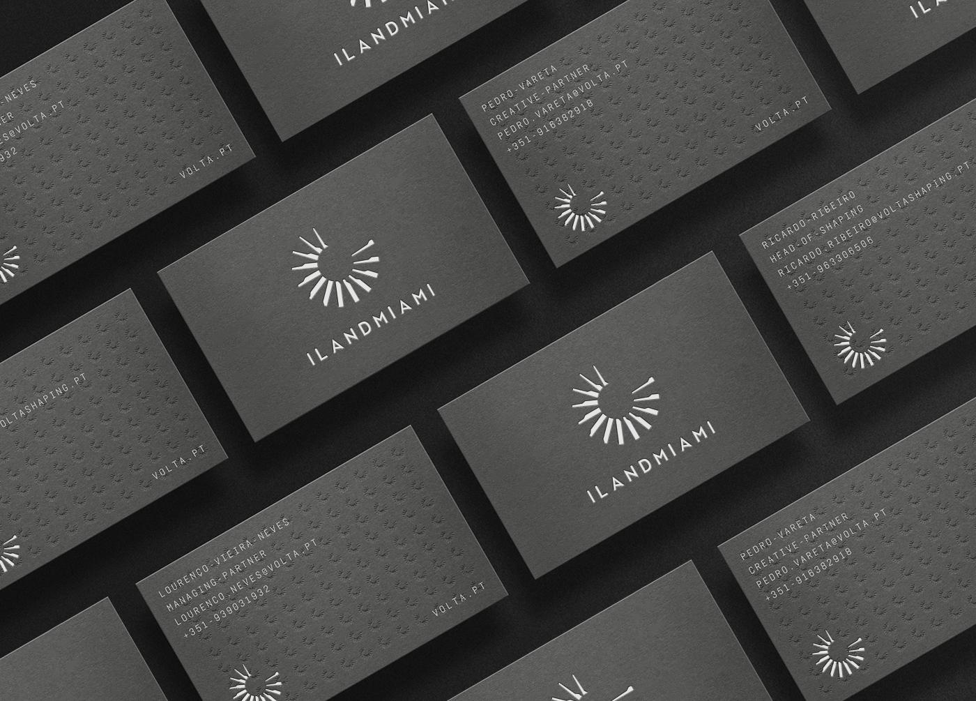 ilandmiami business card design