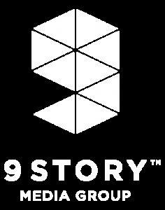 9 Story Logo White