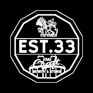 EST.33 Stamp Logo White